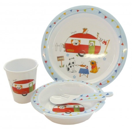 Melamine Child Set - Charlie And Friends - 5 Piece