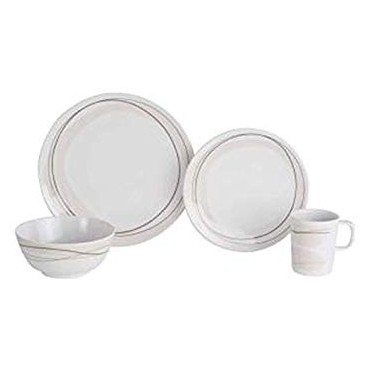 Picnic / Melamine 16 piece Dinner Set - Cappuccino