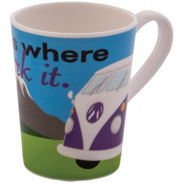 Melamine Mug Campervan - Home Is Where You Park It Design