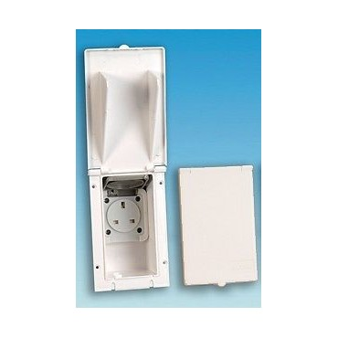 Mains Flush Fitting 240v Oblong Outlet