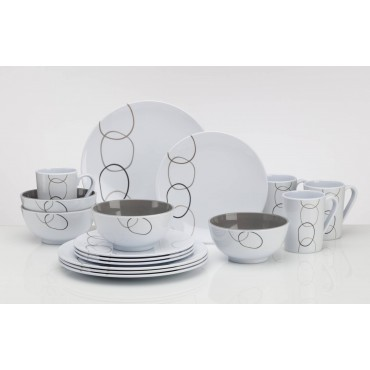 Picnic / Melamine 16 piece Dinner Set - Loops