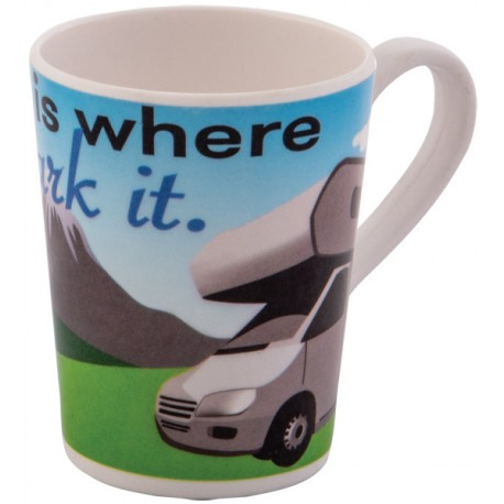 Melamine Mug Motorhome - Home Is Where You Park It Design