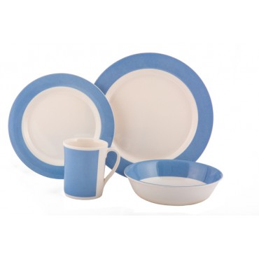 Picnic / Melamine 8 piece Dinner Set - Fresco Blue