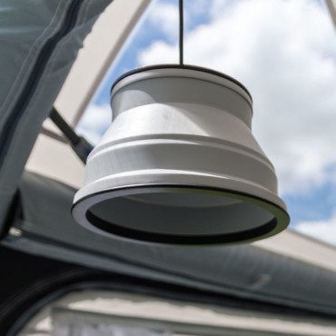 Kampa Groove  12 & 240v Hanging Light - Grey