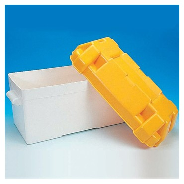 Large Battery Box with Divider & Straps