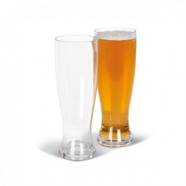 "Kampa Tough Polycarbonate 660ml Plastic Beer ""Glass"" - Pack of Two"