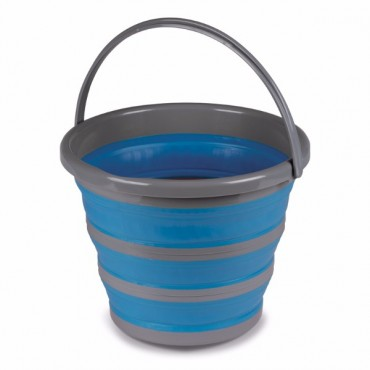 Kampa 10 Litre Collapsible Silicone Sided Bucket - Blue