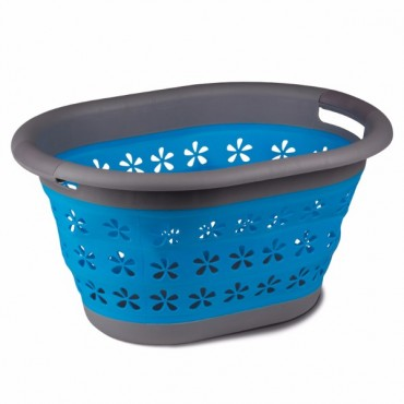 Kampa Collapsible Siliscone Sided Laundry Basket - Blue