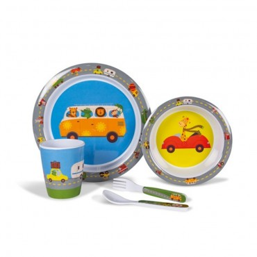 Kampa Animal Traffic Childrens Melamine Picnicware Set