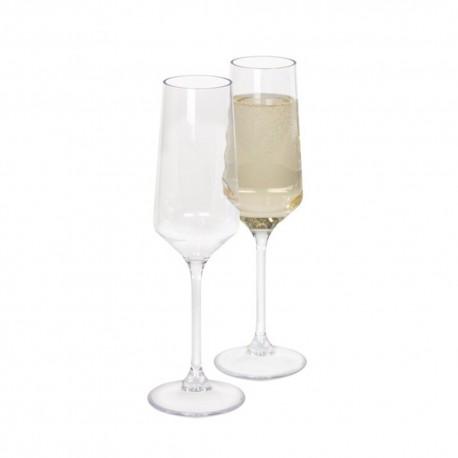 Kampa Soho Pack of Two Camping / Picnic Polycarbonate Champagne Glasses Flutes
