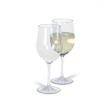 Kampa Noble Pack of Two Camping / Picnic Polycarbonate White Wine Glasses