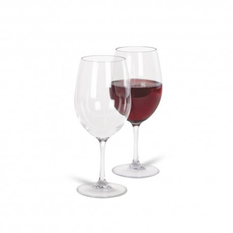 Kampa Noble Pack of Two Camping / Picnic Polycarbonate Red Wine Glasses