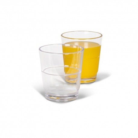 Kampa Pack of Four Camping / Picnic Polycarbonate Stackable Tumbler Glasses