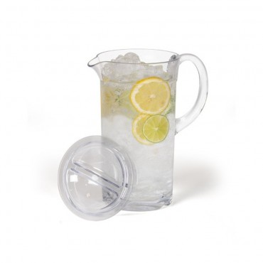 Kampa Camping / Picnic Polycarbonate Tall Drinks Pitcher / Jug with Lid