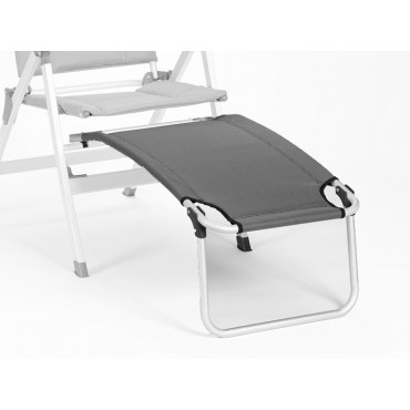 Isabella Lightweight Alloy Footrest - Light Grey