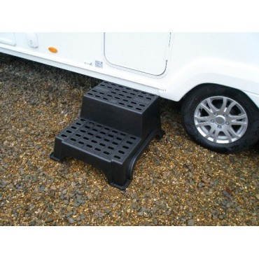 Milenco MGI Jumbo Super Strong Plastic Double Caravan Step