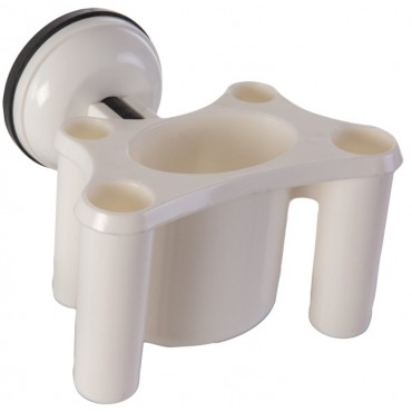 ClingFish Toothbrush Holder with Screwless Suction Cup Fastening