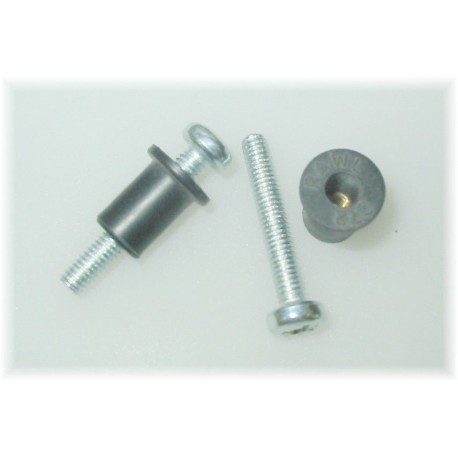Caravan Cavity Fixing Rubber Grommet And Screw - Pack Of Two