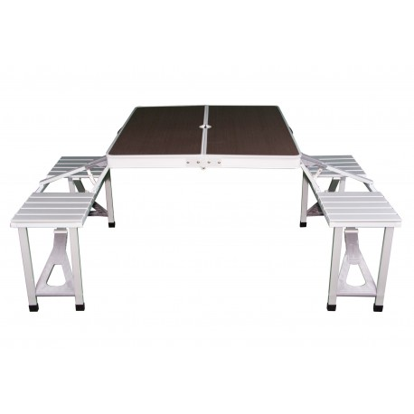 Gloucester Deluxe Alloy Framed Folding Picnic Table Set