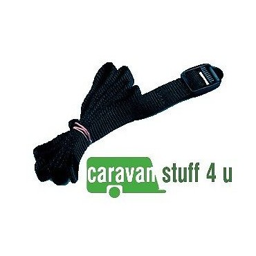 Caravan Battery Restraining Strap With Buckle Fastener