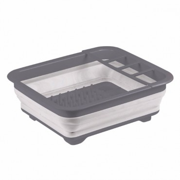 Kampa Folding / Collapsible Silicone Sided Dish Drainer - Grey