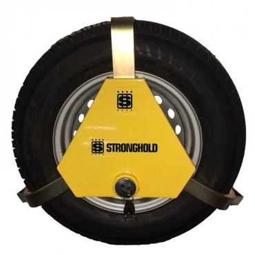"Stronghold Apex Triangular Sold Secure Wheel Clamp for 13 - 15"" Wheels"