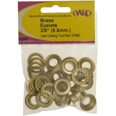 "Brass Eyelets 3/8"" (9.5mm) - Pack Of Ten"