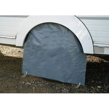 Caravan Single Wheel Cover - Grey