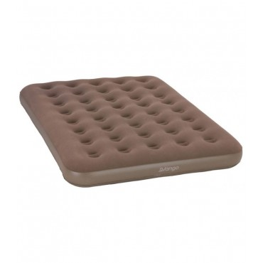 Vango Inflatable Double Air Bed - Nutmeg - 191 x 137 x 22 cm