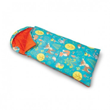 Kampa Woodland Junior Childrens Sleeping Bag with Stuff Sac