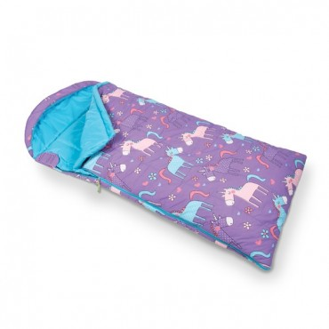 Childs Unicorn Sleeping Bag with Stuff Sac