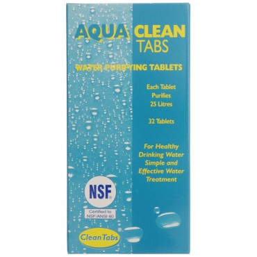 Camping Aqua Clean Tabs Water Purfication Tablets