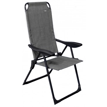Quest Hampton Recline Camping Chair - Grey