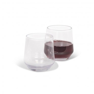 Kampa Soho Pack of Two Camping / Picnic Polycarbonate Stemless Wine Glasses