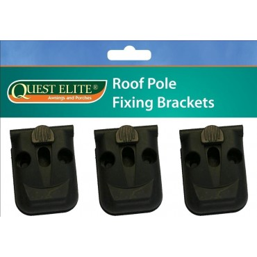 Quest Elite Caravan Awning Roof Pole Bracket Pads x 3