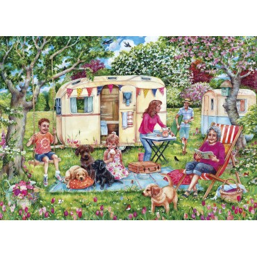 Gibsons Caravan Escape Caravan Themed 1000 piece Jigsaw Puzzle
