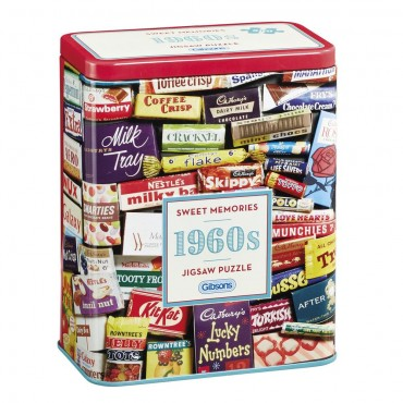 1960s Sweet Memories 500 Piece Gibsons Jigsaw in Gift Storage Tin