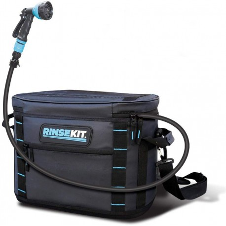 RinseKit Lux 3 Gallon Portable Portable Pressurised Shower Kit with Soft Tote