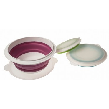 Kampa Compact Collapsible Silicone Bowls - 3 Piece Set
