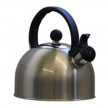 ViaMondo Stainless Steel Gas Hob 2 Litre Whistle Kettle - Soft Gold