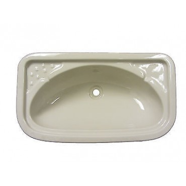 Rectangular Vanity Basin Sink For Caravan Or Camper Van - Ivory