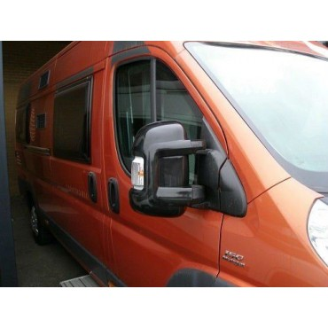 Milenco Van Mirror Protectors - To suit Ducato, Boxer, Relay 2006 on - Black