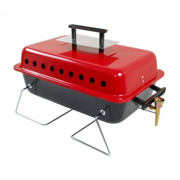 Crusader Gordon Camping Table Top Gas Barbecue with Lava Rock