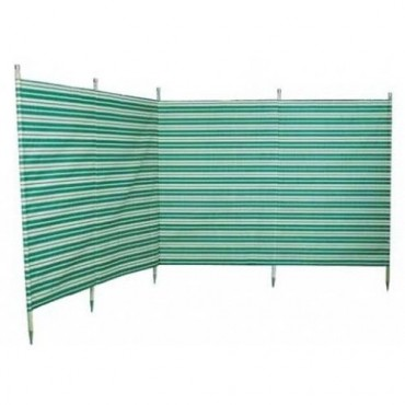 Blue Diamond 5 Pole Windbreak - Green / Cream Stripe