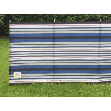 Blue Diamond 9 Pole Windbreak - Navy / Burgundy Contemporary Stripe