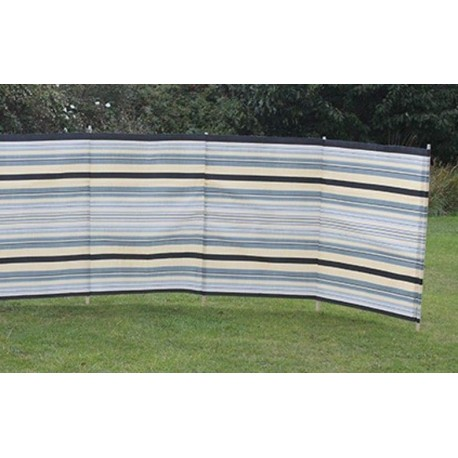 Blue Diamond 9 Pole Windbreak - Sand / Grey Contemporary Stripe