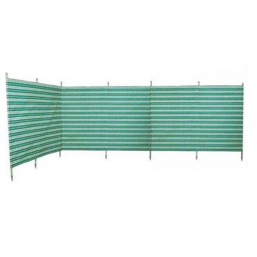 Blue Diamond 7 Pole Windbreak - Green / Cream Stripe