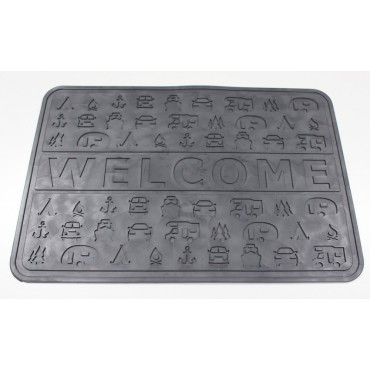 Outdoor Revolution Lightweight Non-slip PVC 45 x 31 cm Welcome Door Mat