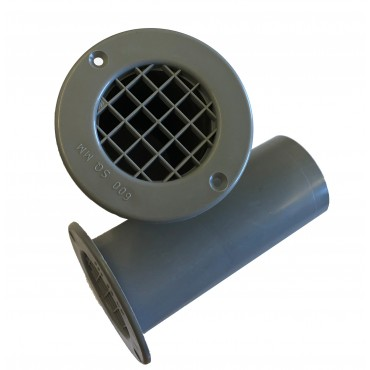 Caravan Motorhome 120mm Gas Drop Floor Vent Grey x 1