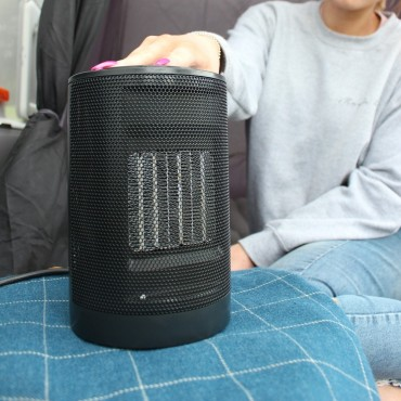 Compact Ceramic Oscillating Low Wattage Fan Heater